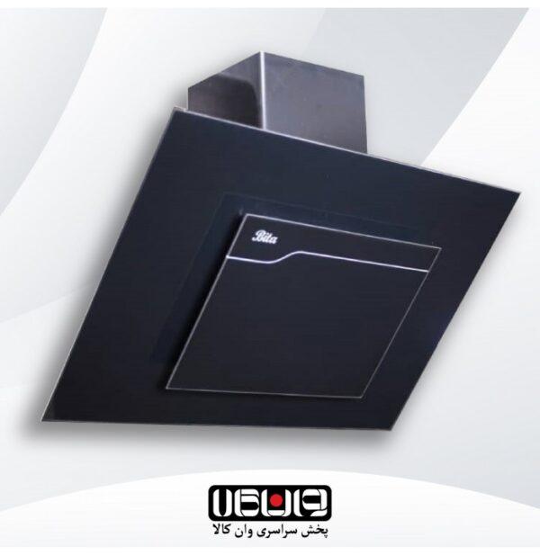 هود بیتا - مدل ساینا 90cm - مورب شیشه تخت کلید مکانیکی